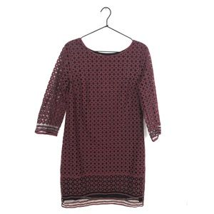 Max Studio Burgundy Lace Dress